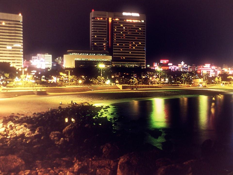 해운대 해수욕장의 밤