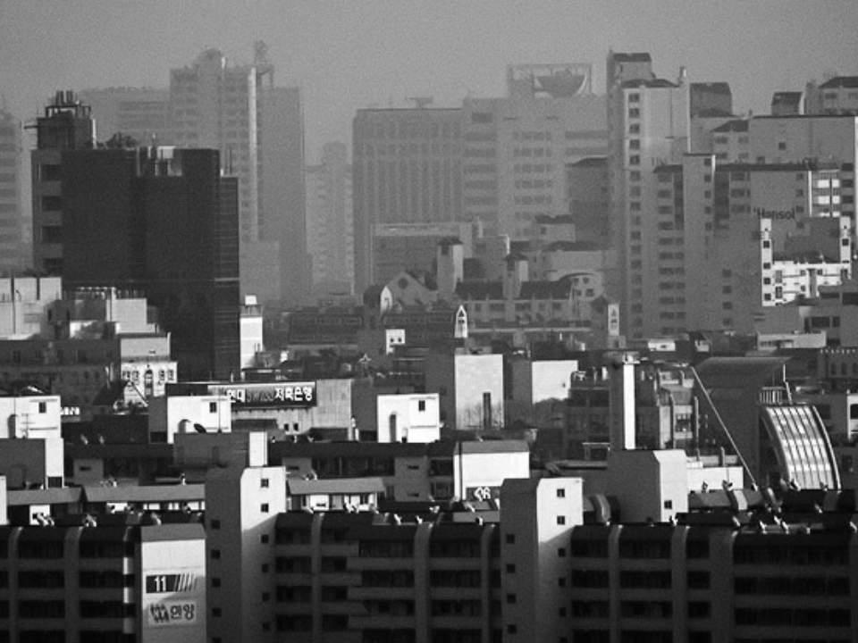 밀집되어있는 건물들
