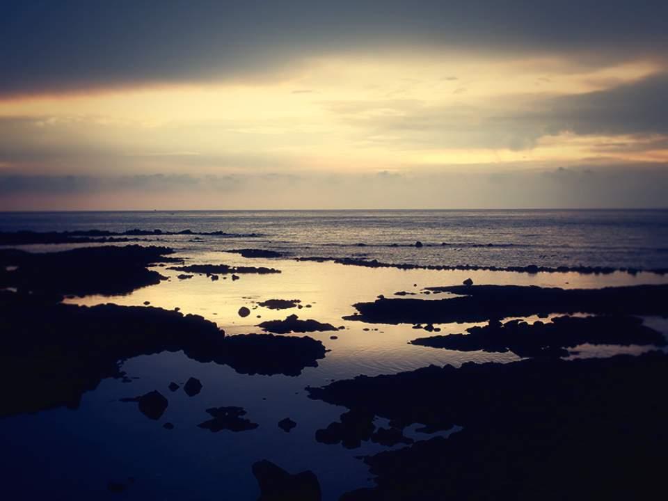 해가지는 바다