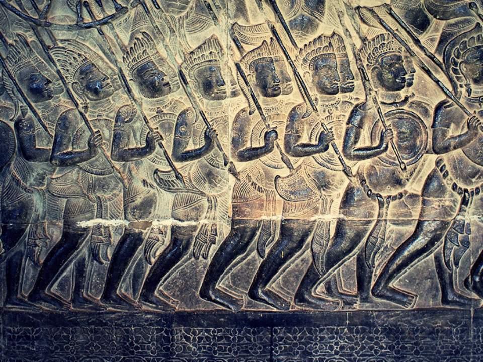 앙코르왓의 벽