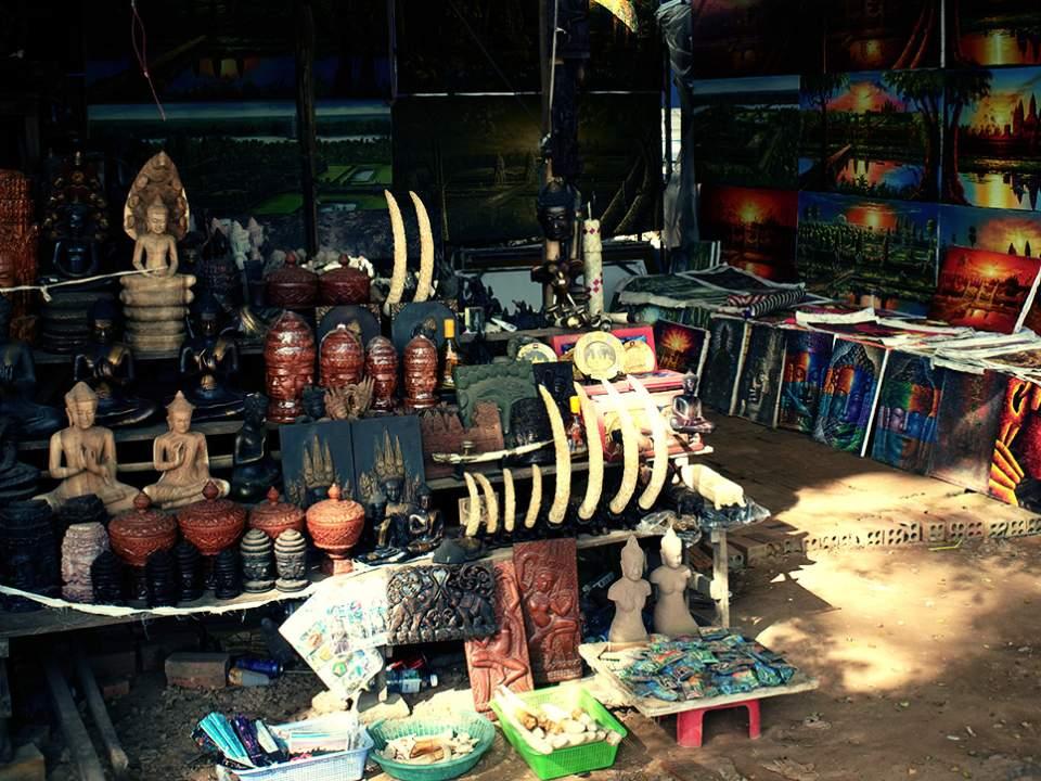 기념품 파는 가게의 모습