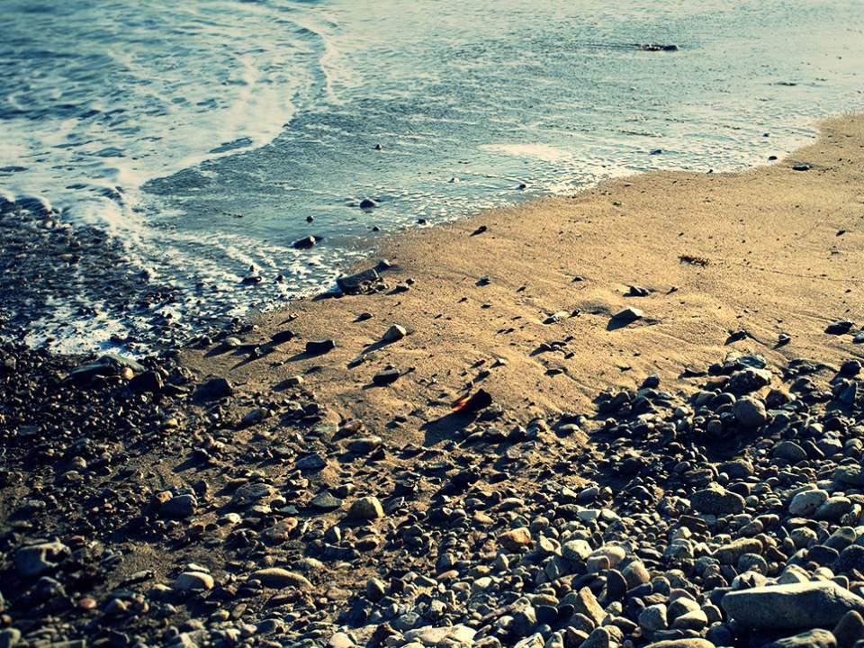 작은 해변에서..