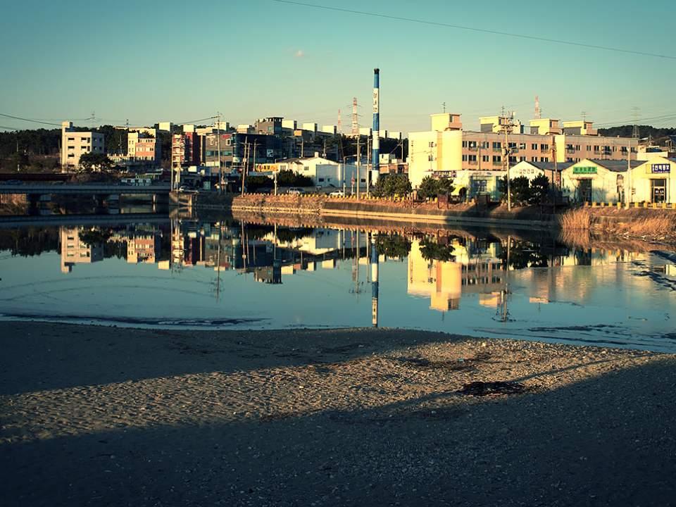 바닷가에 있는 마을