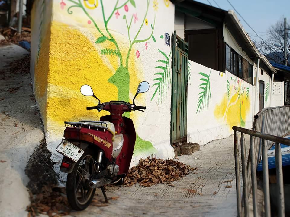 전주에서 본 동네의 벽화
