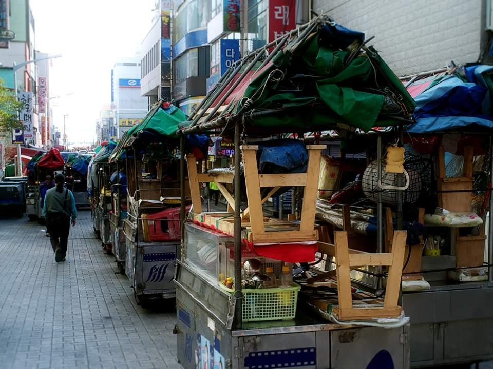 PIFF 광장에서 보는 포장마차들..