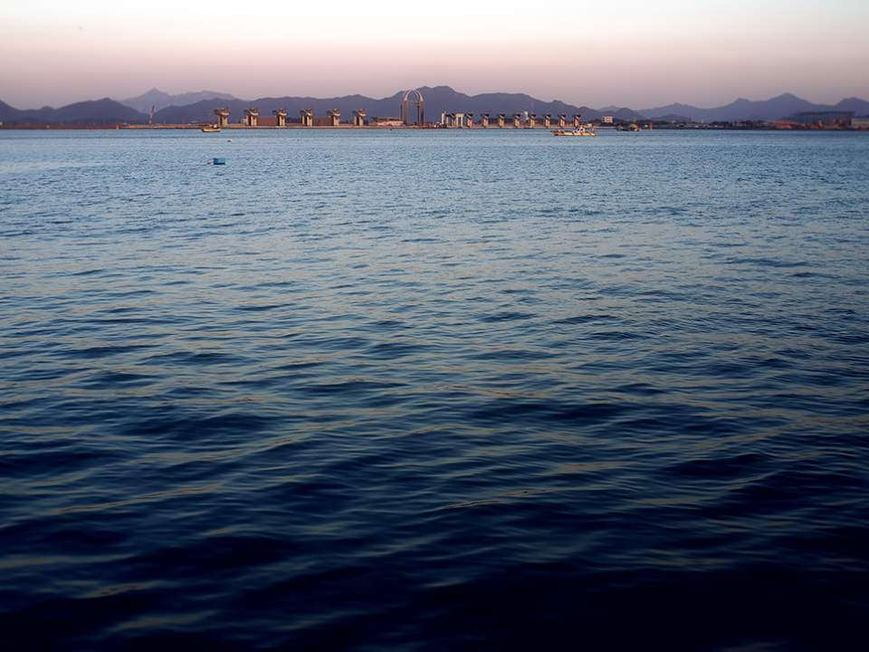 목포 바다의 모습