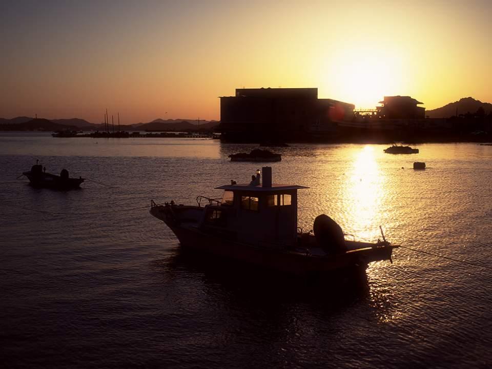 해질녘의 목포 바다