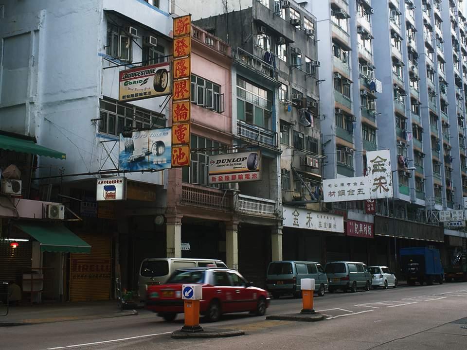 몽콕 주변의 거리