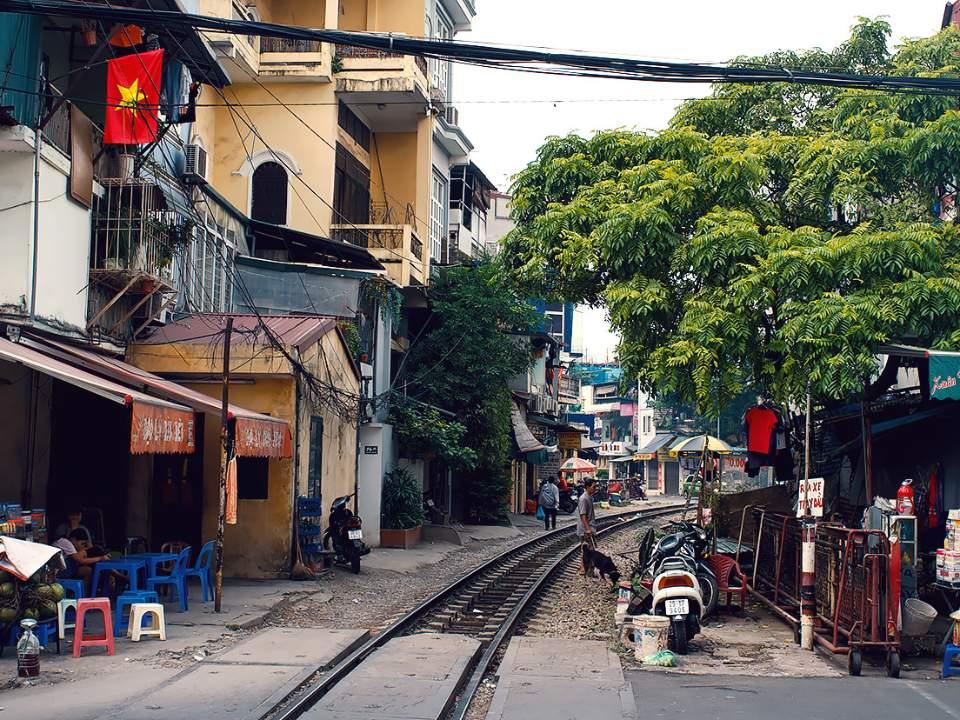 하노이 거리의 일부분