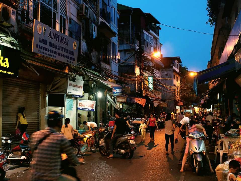 밤에서의 길거리