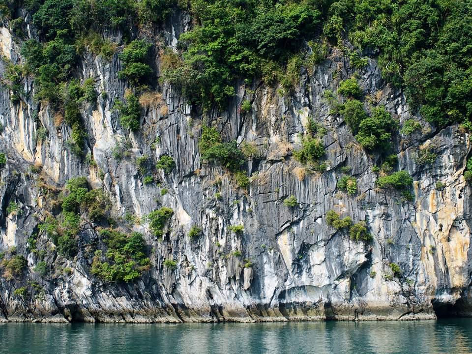 하롱베이 섬의 일부분