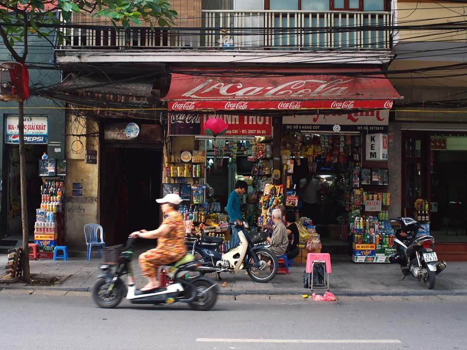 시장안에서의 가게들