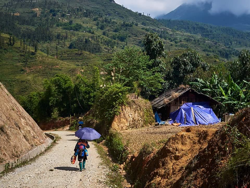 사파 마을의 한 모습