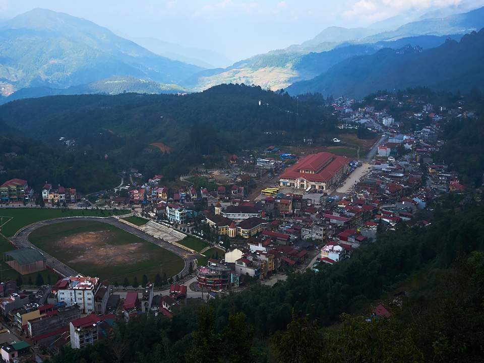 함롱산 전망대에서 본 사파의 모습