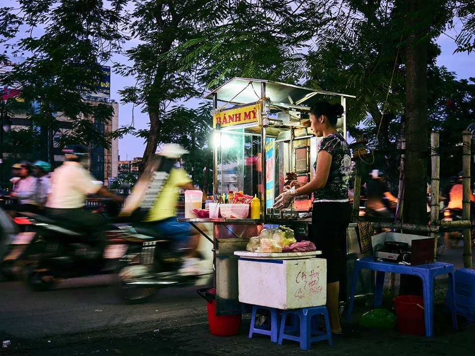 하이퐁에서의 퇴근하는 사람들의 모습