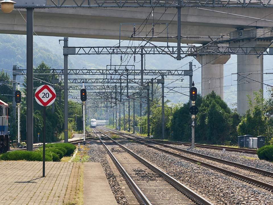 밀양에서의 기차역