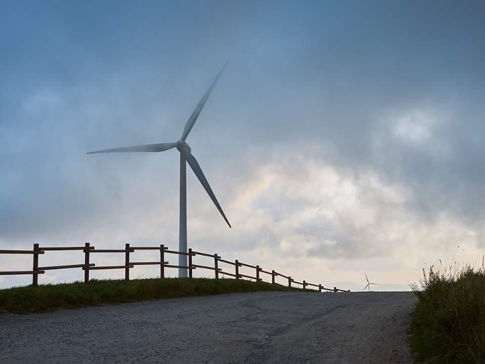 슬며시 드러나는 풍력발전기