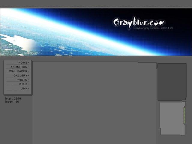 Grayblur main design