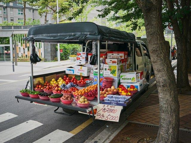 거리의 과일장수