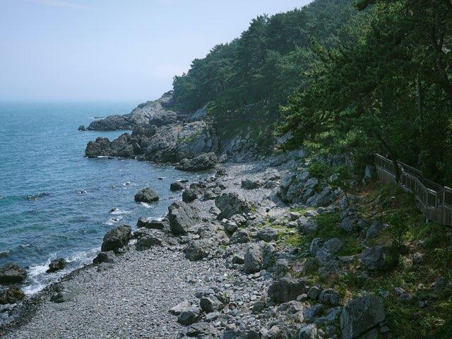 해운대 바닷가 뒤편에서