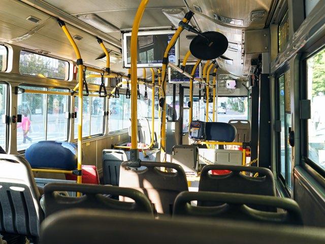 밝은날에 버스속의 풍경